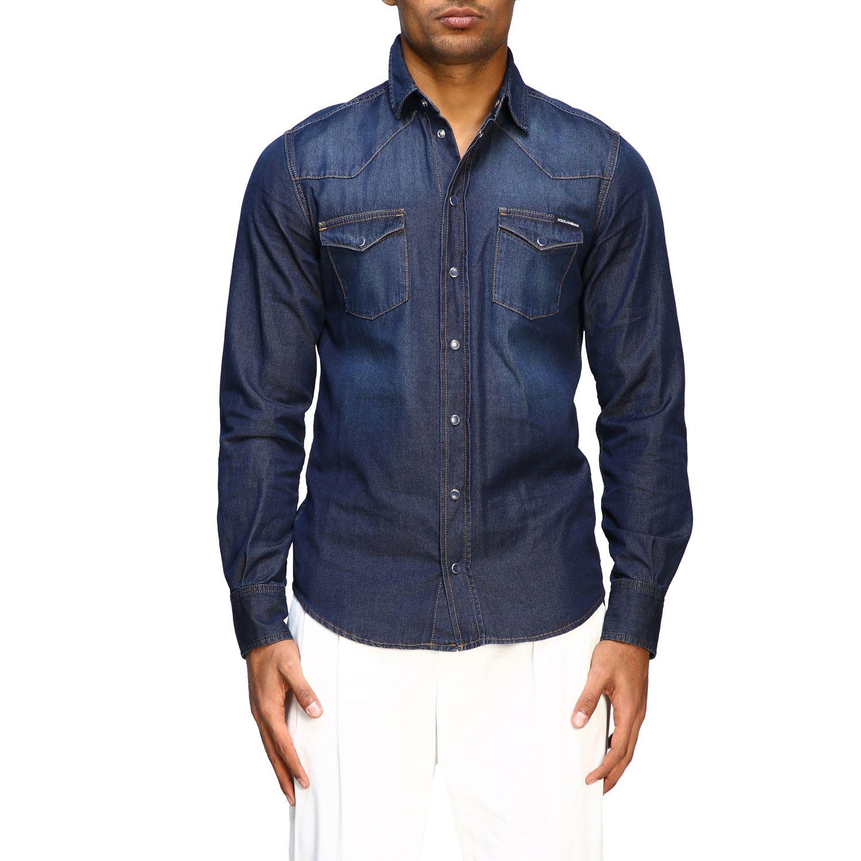 Shirt Dolce & Gabbana: Dolce & Gabbana used effect denim shirt blue 1