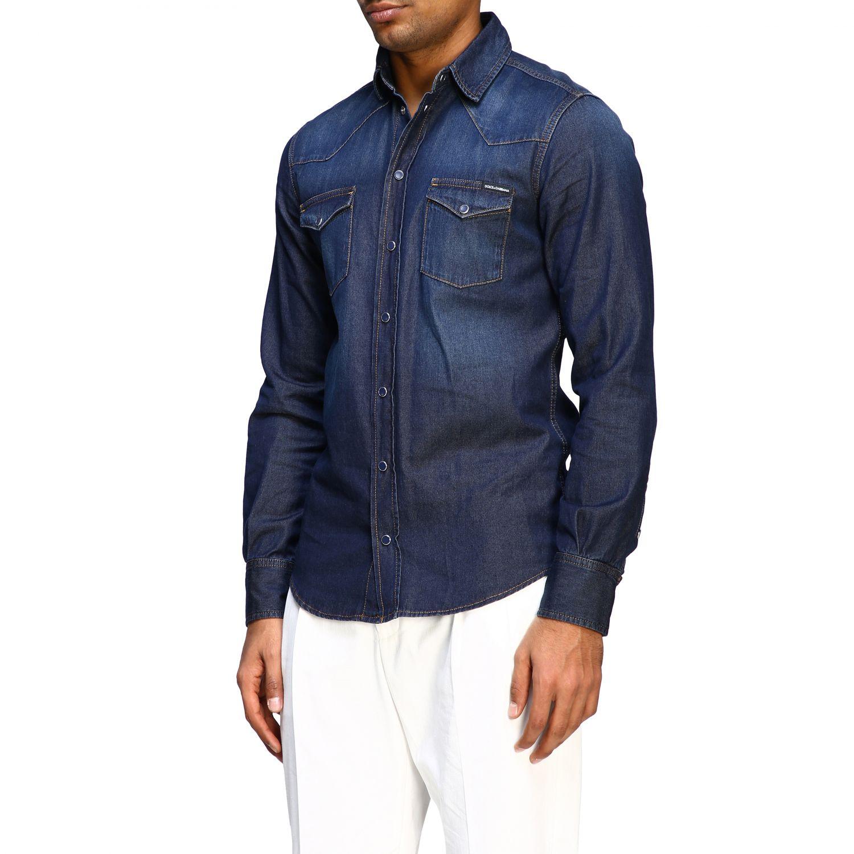 Shirt Dolce & Gabbana: Dolce & Gabbana used effect denim shirt blue 2