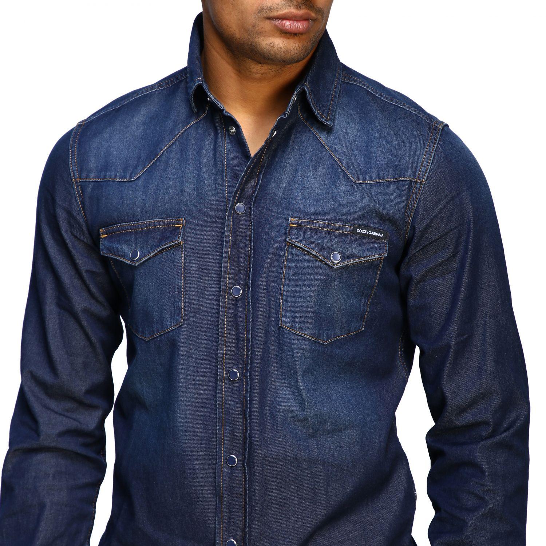 Shirt Dolce & Gabbana: Dolce & Gabbana used effect denim shirt blue 3
