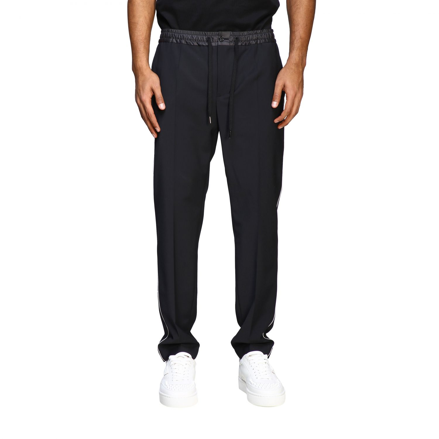 Pants Dolce & Gabbana: Dolce & Gabbana jogging style trousers with colored edges black 1