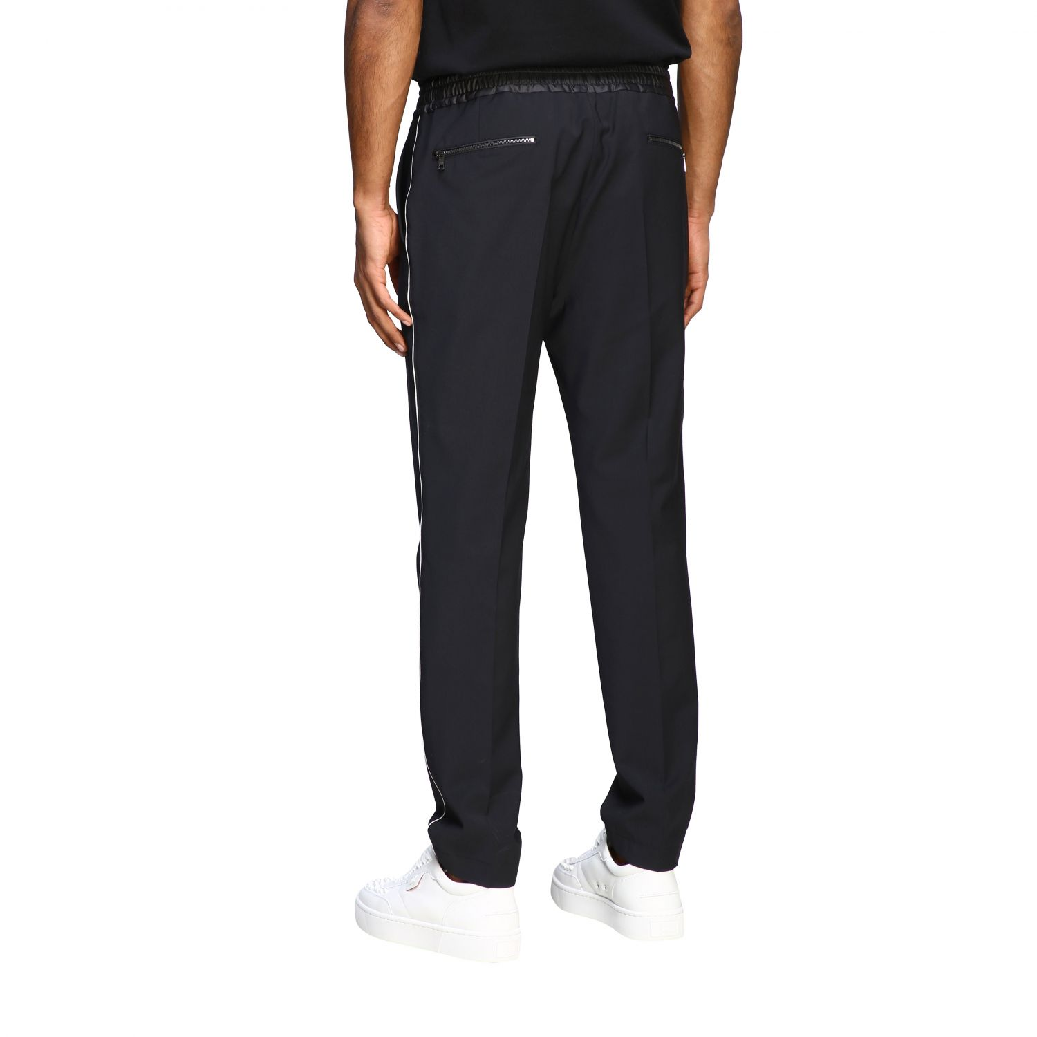 Pants Dolce & Gabbana: Dolce & Gabbana jogging style trousers with colored edges black 2