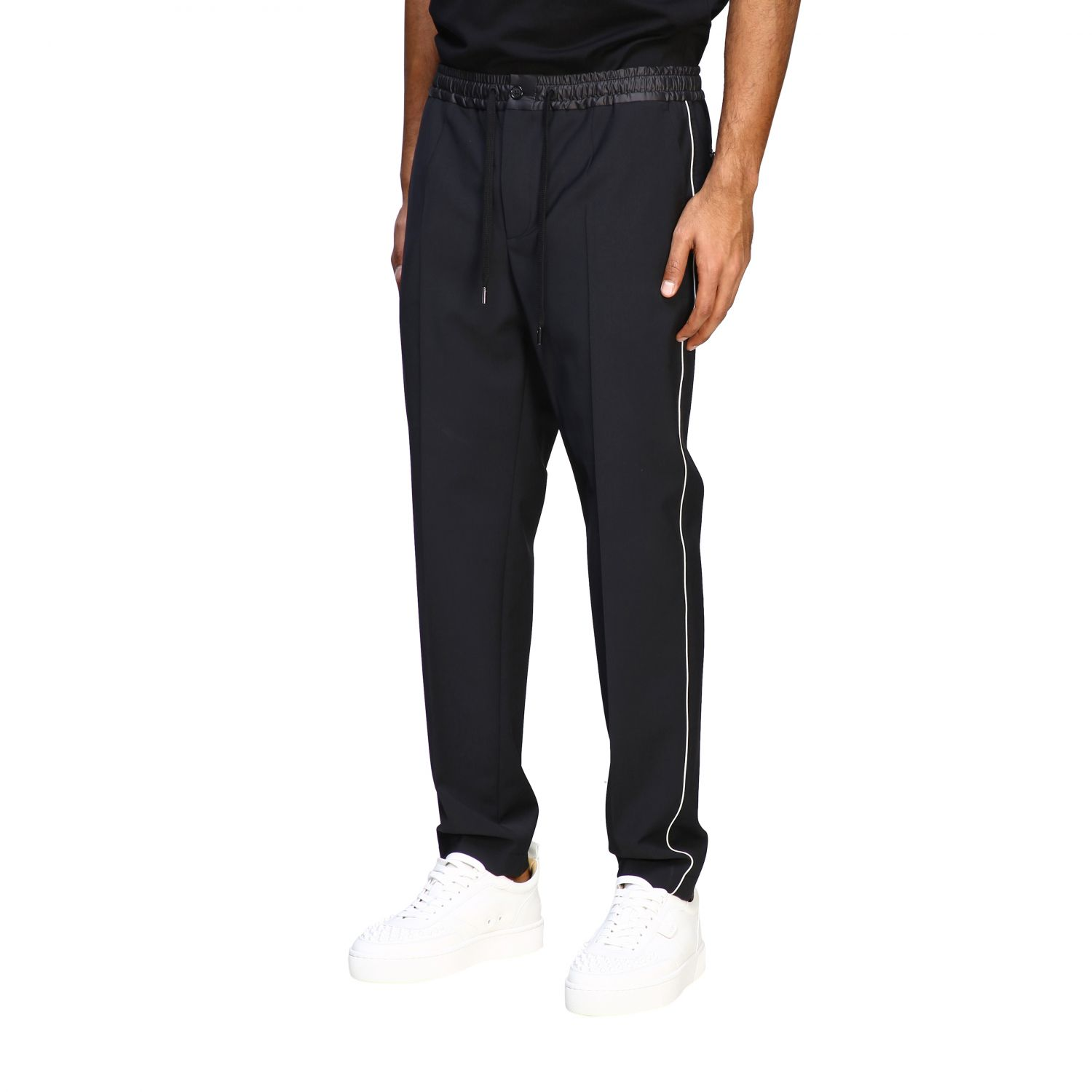 Pants Dolce & Gabbana: Dolce & Gabbana jogging style trousers with colored edges black 3