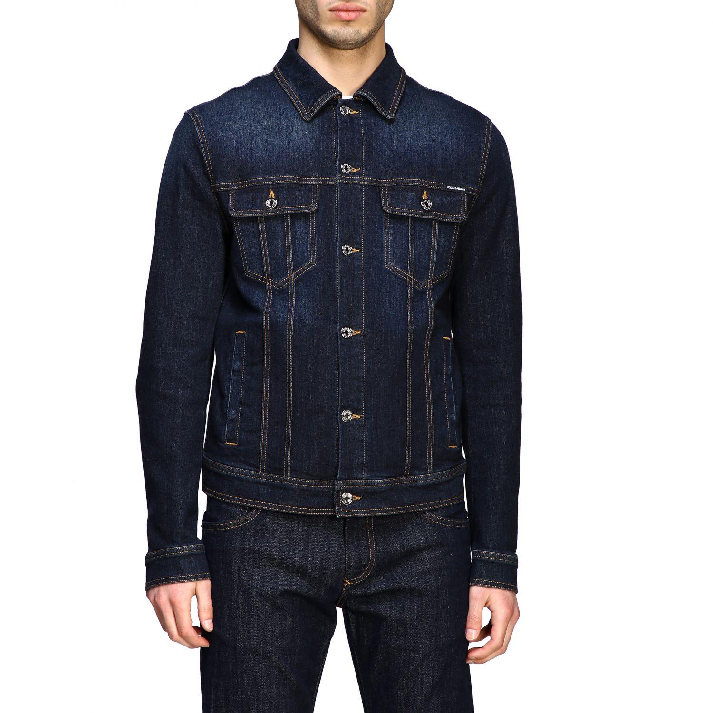 Pullover Dolce & Gabbana: Dolce & Gabbana Slim Jeansjacke blau 1