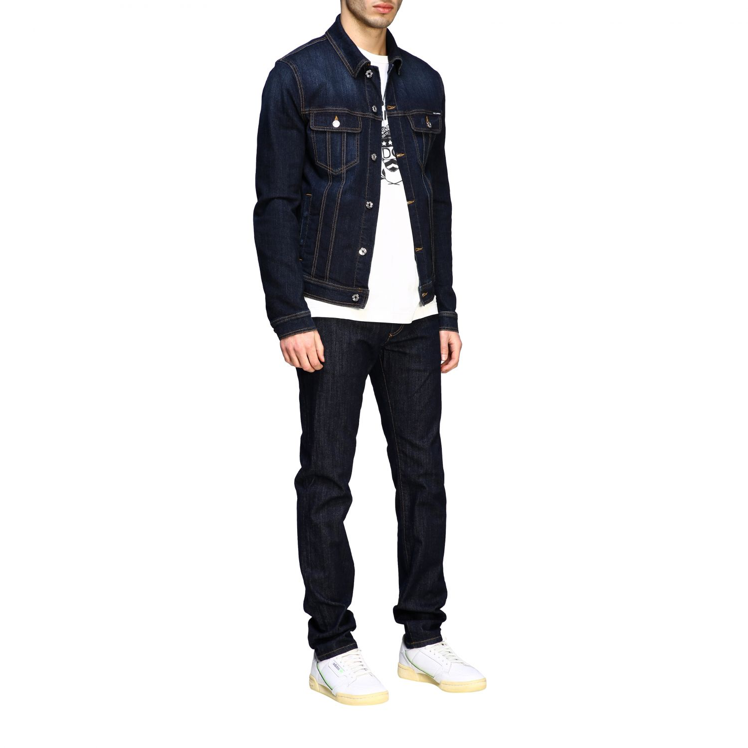 Sweater Dolce & Gabbana: Dolce & Gabbana slim denim jacket blue 2
