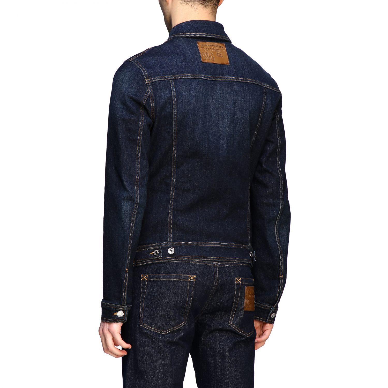 Pullover Dolce & Gabbana: Dolce & Gabbana Slim Jeansjacke blau 3