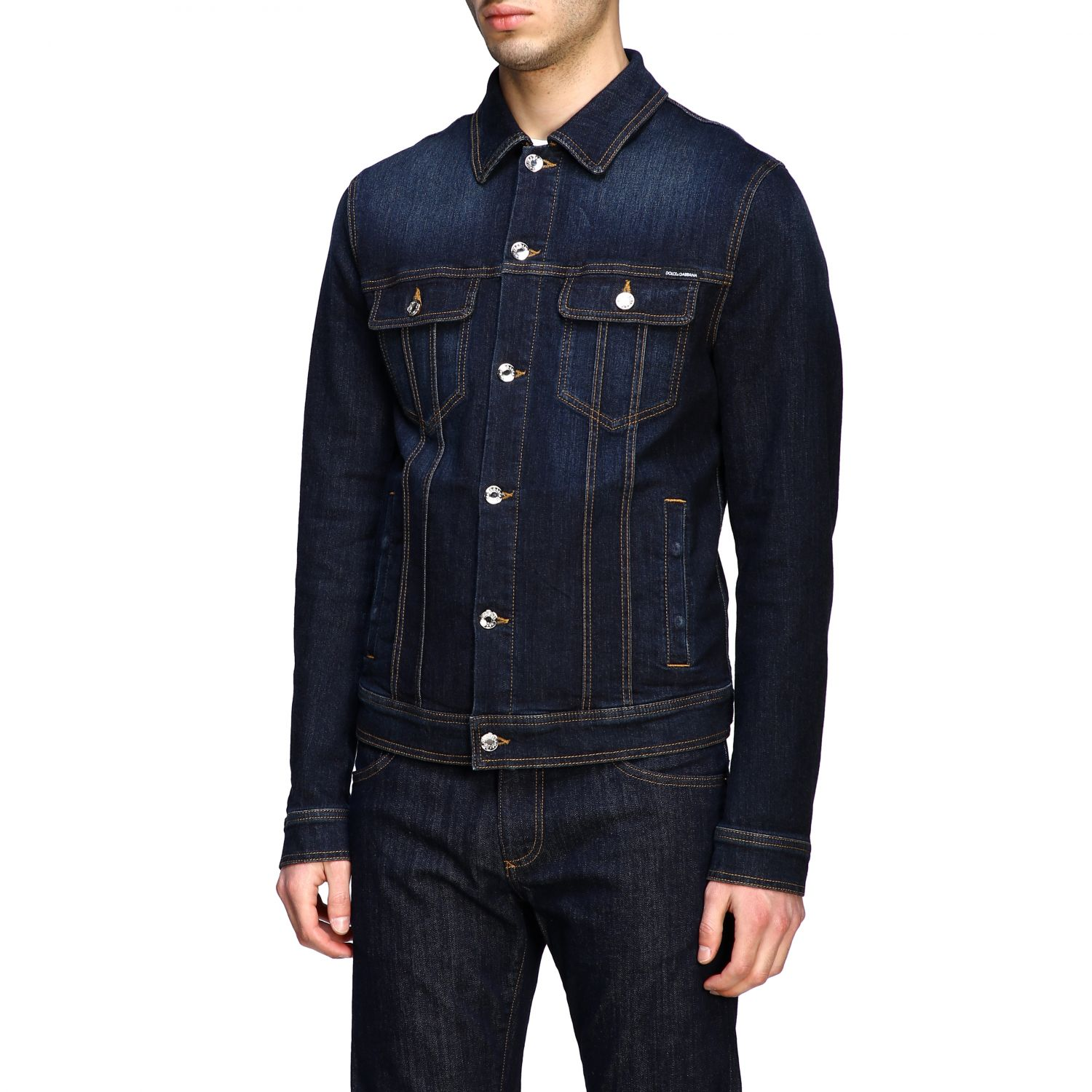 Sweater Dolce & Gabbana: Dolce & Gabbana slim denim jacket blue 4