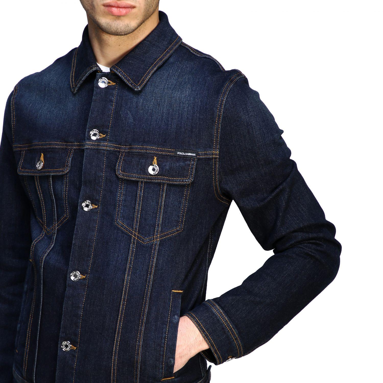 Pullover Dolce & Gabbana: Dolce & Gabbana Slim Jeansjacke blau 5