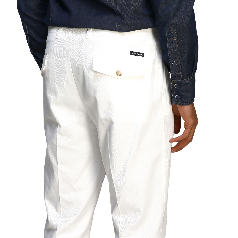 Pants Dolce & Gabbana: Classic Dolce & Gabbana trousers with logo white 4