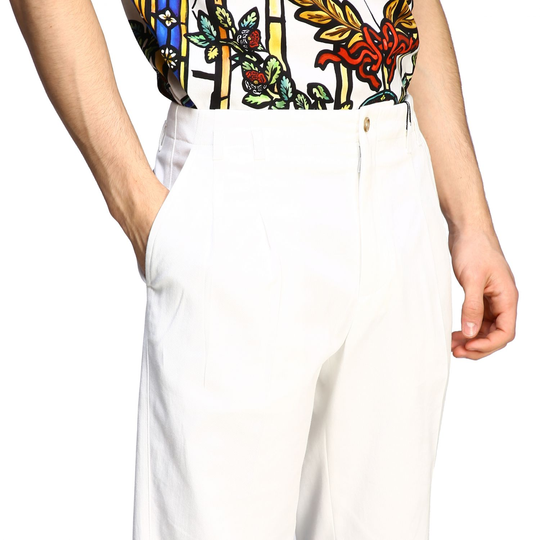 Pants Dolce & Gabbana: Classic Dolce & Gabbana trousers with logo white 5