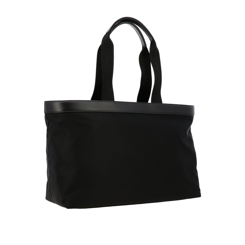 Tasche Dolce & Gabbana: Dolce & Gabbana Nylon Tasche mit großem Logo schwarz 2
