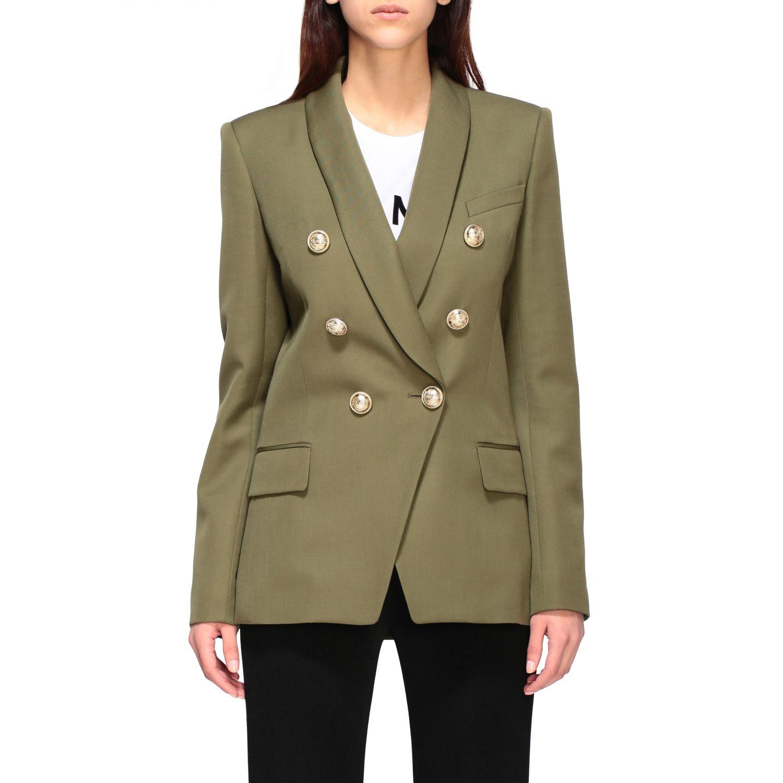 Blazer Balmain: Jacket women Balmain green 1