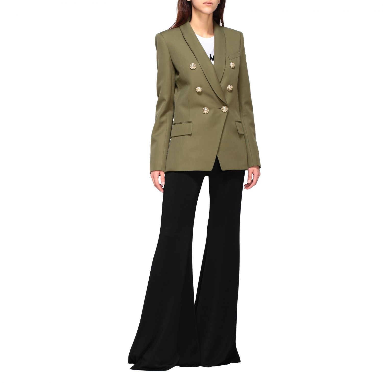 Blazer Balmain: Jacket women Balmain green 2