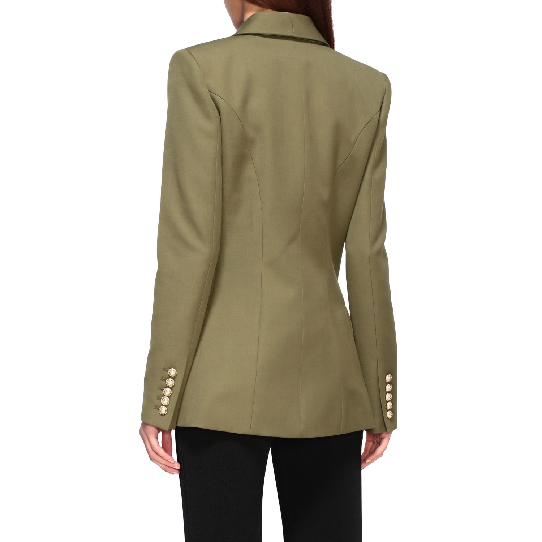 Blazer Balmain: Jacket women Balmain green 3