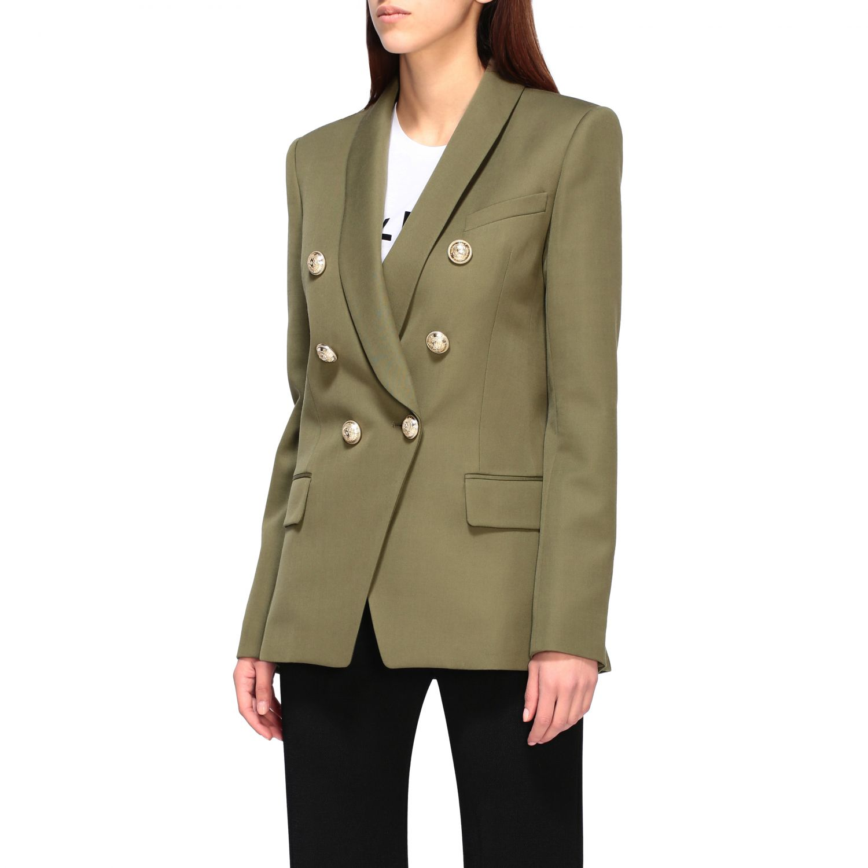 Blazer Balmain: Jacket women Balmain green 4
