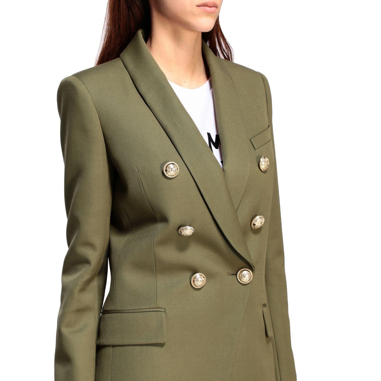 Blazer Balmain: Jacket women Balmain green 5