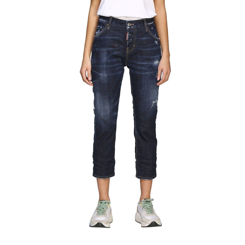 Jeans Dsquared2 regular fit avec déchirures bleu 1
