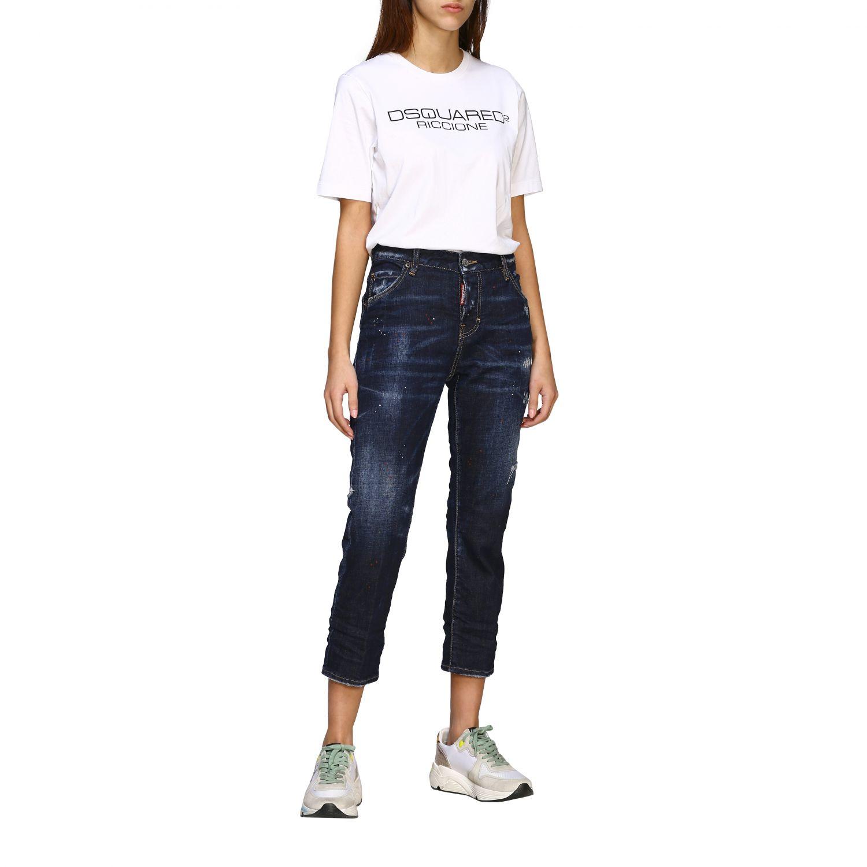 Jeans Dsquared2 regular fit avec déchirures bleu 2