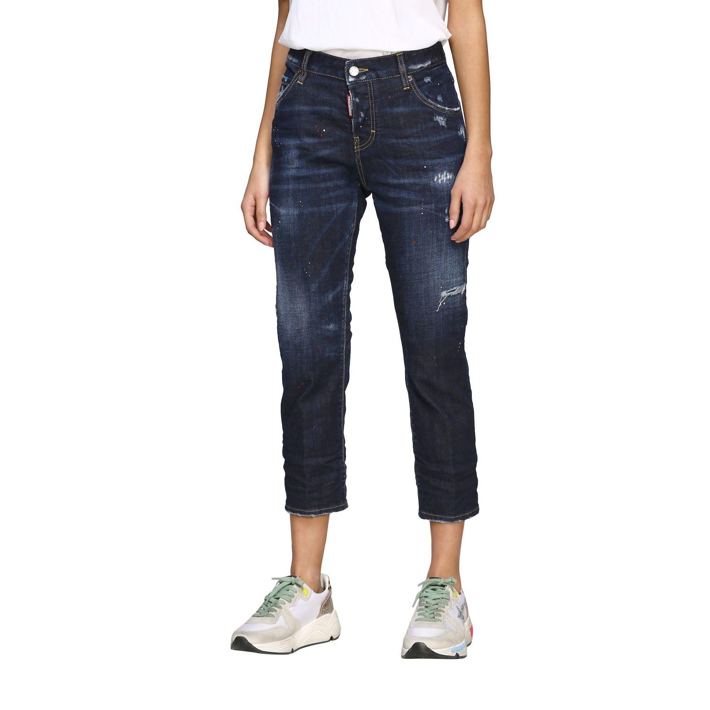 Jeans Dsquared2 regular fit avec déchirures bleu 4