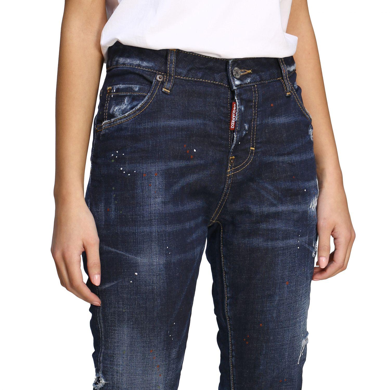 Jeans Dsquared2 regular fit avec déchirures bleu 5