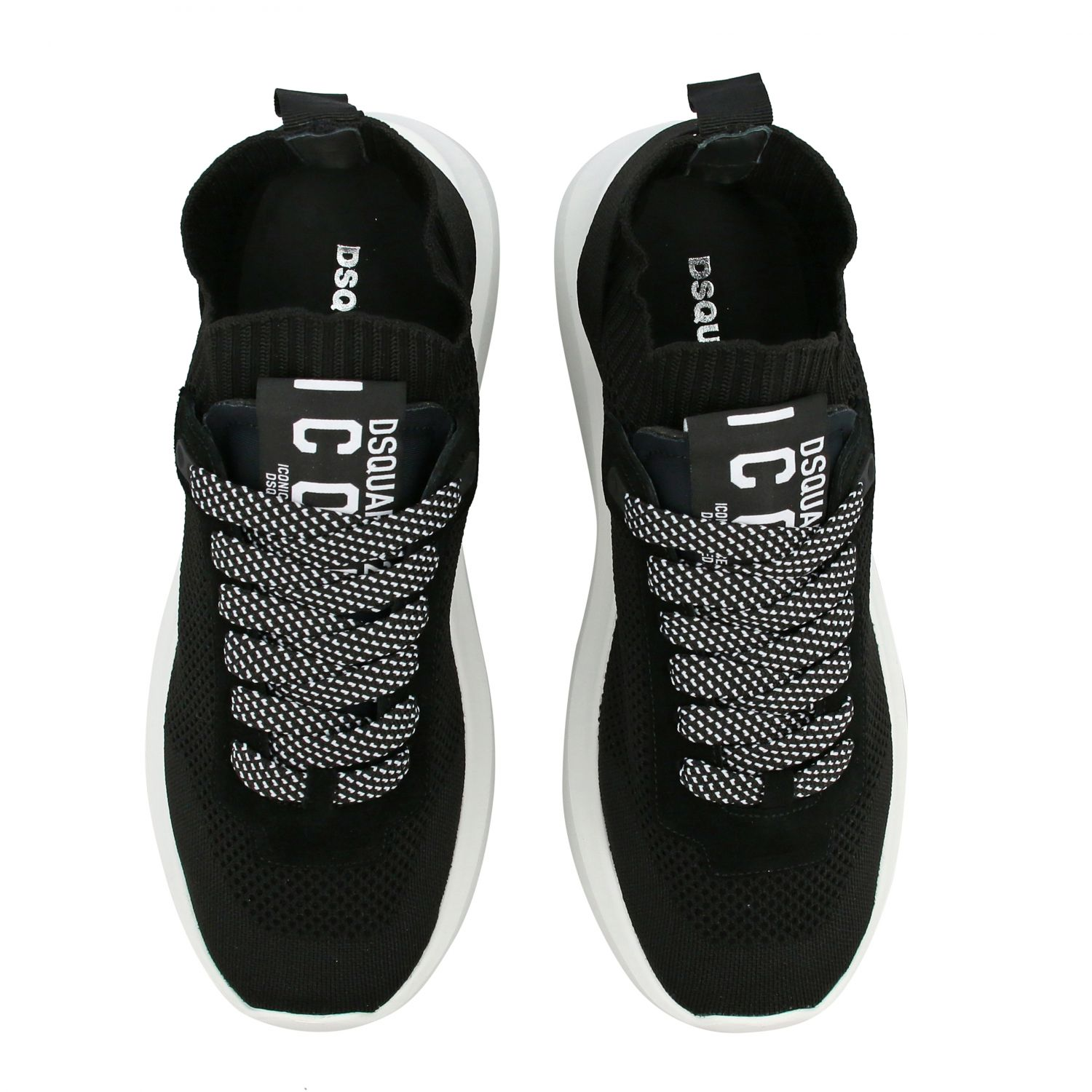 Dsquared2 slip on sneakers in mesh with