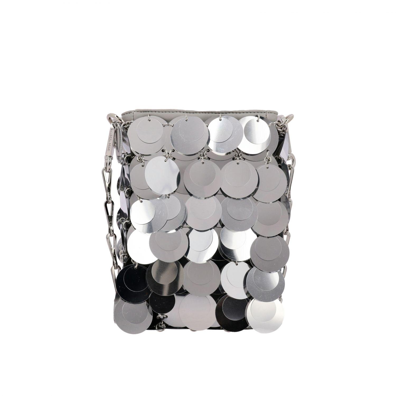 Crossbody bags women Paco Rabanne silver 1