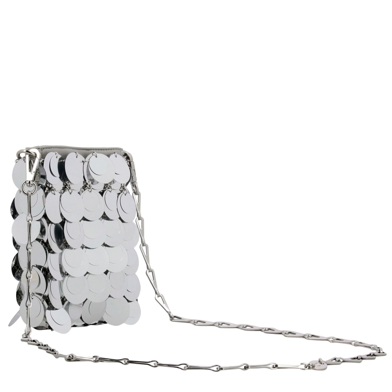 Crossbody bags women Paco Rabanne silver 3