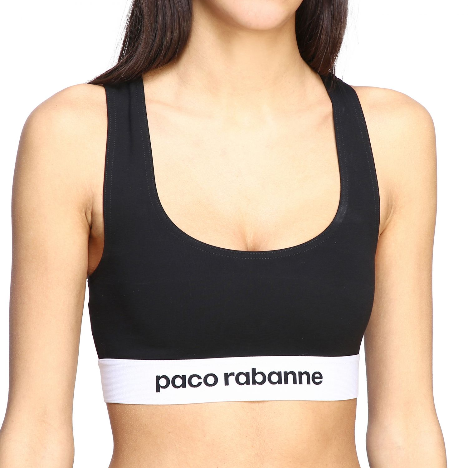 Top women Paco Rabanne black 5