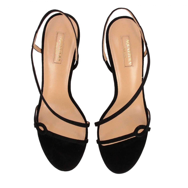 Sandalo Aquazzura in pelle scamosciata nero 3