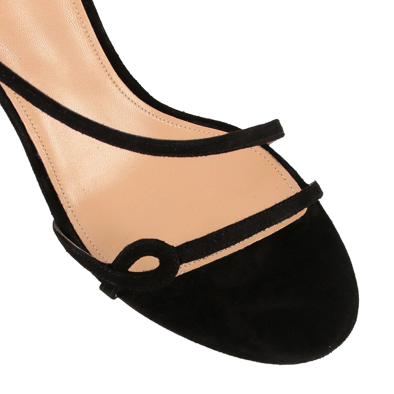 Sandalo Aquazzura in pelle scamosciata nero 4