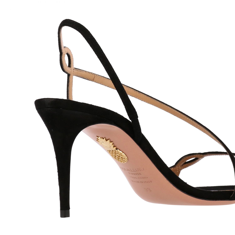 Sandalo Aquazzura in pelle scamosciata nero 5