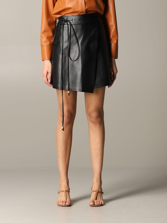 Jupe Nanushka: Jupe en cuir Nanushka noir 1