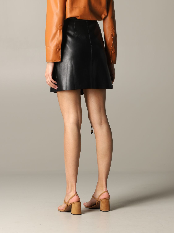 Jupe Nanushka: Jupe en cuir Nanushka noir 3