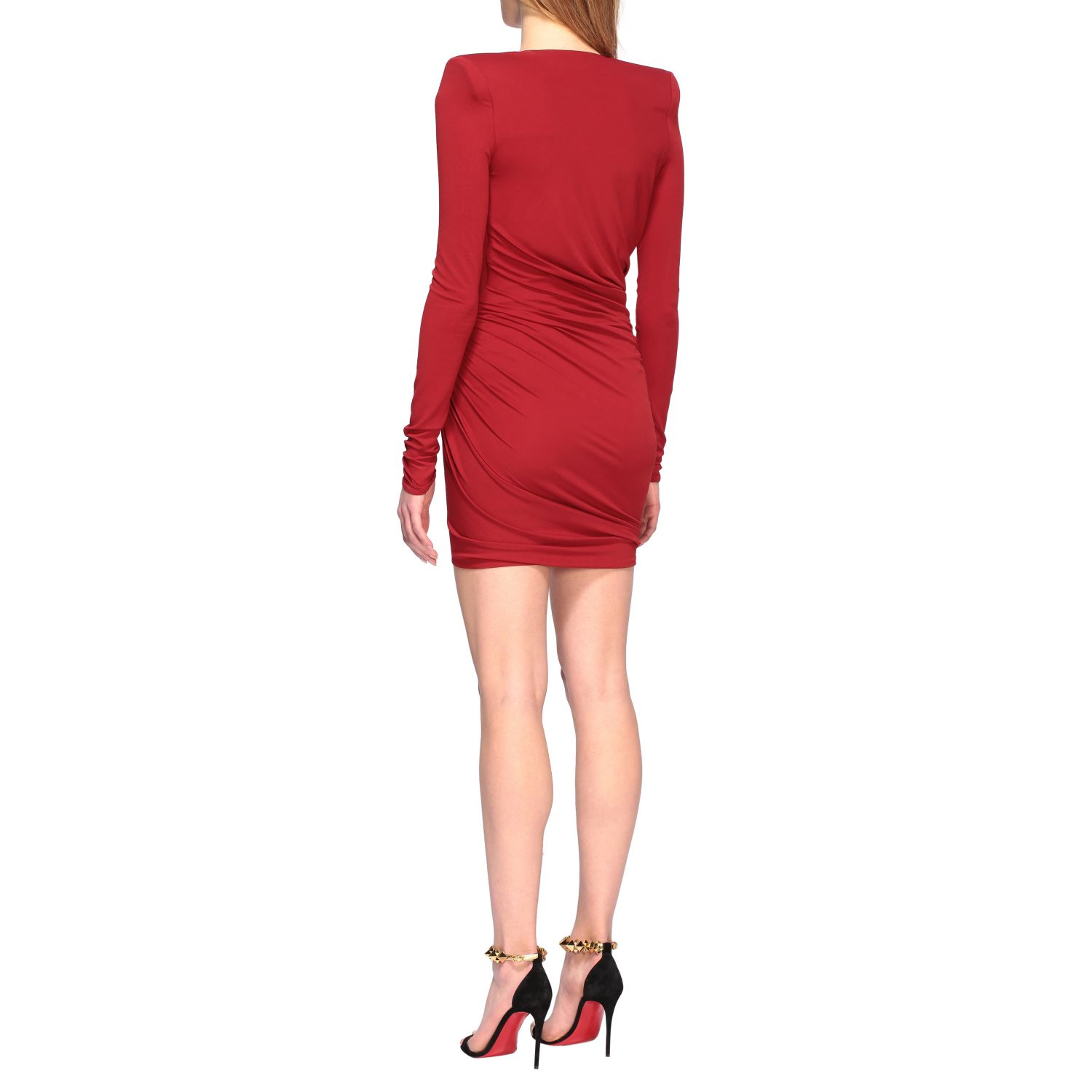 Dress Alexandre Vauthier: Alexandre Vauthier shaped and draped dress red 2