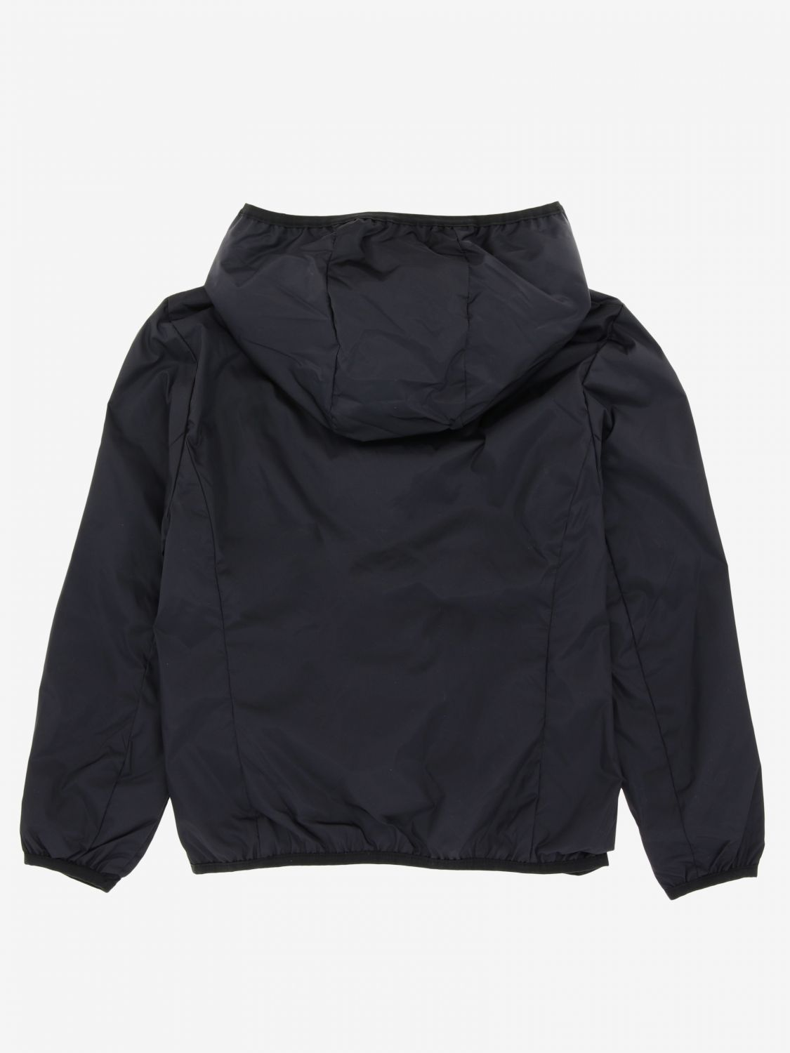 Save The Duck jacket with hood and zip black 2