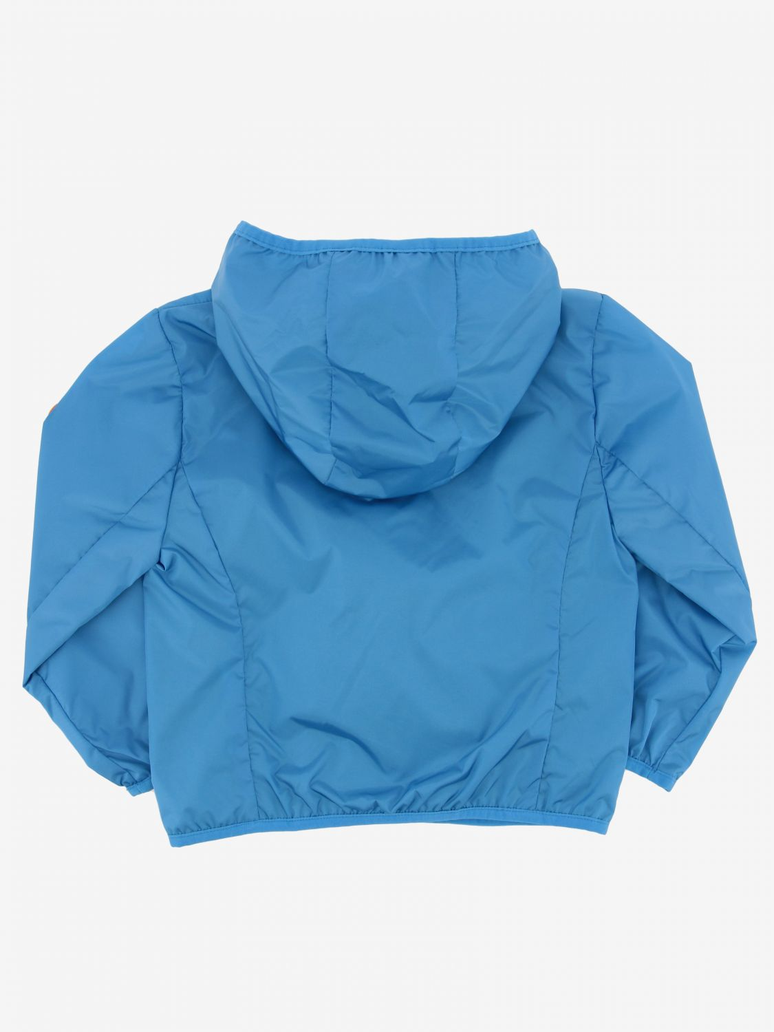 Save The Duck jacket with hood and zip blue 2
