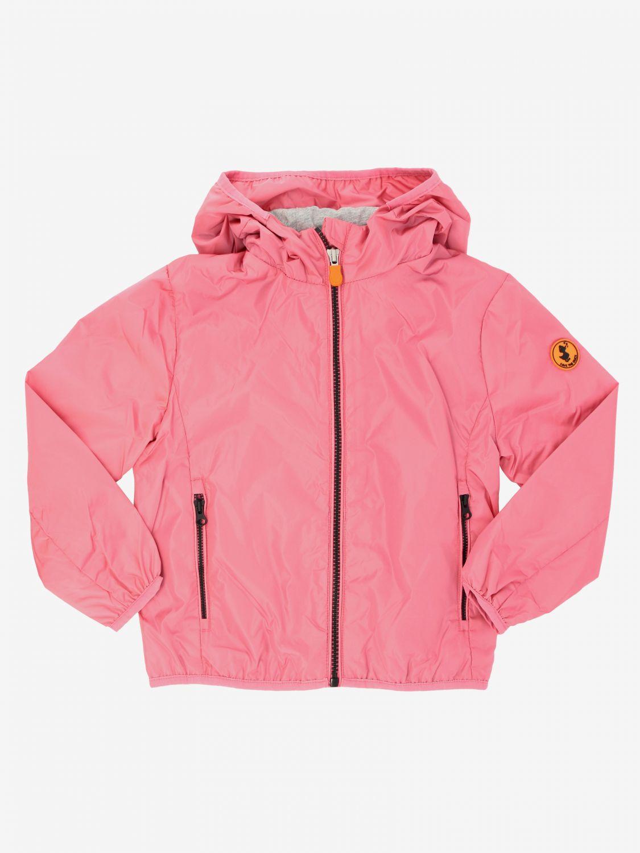 Save The Duck Jacke mit Kapuze und Reißverschluss pink 1