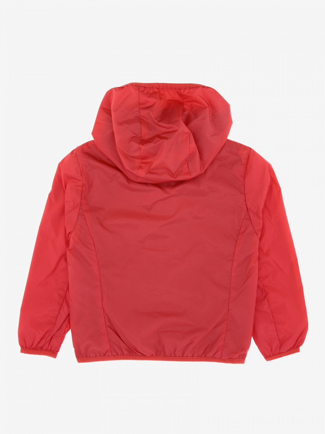Save The Duck jacket with hood and zip red 2