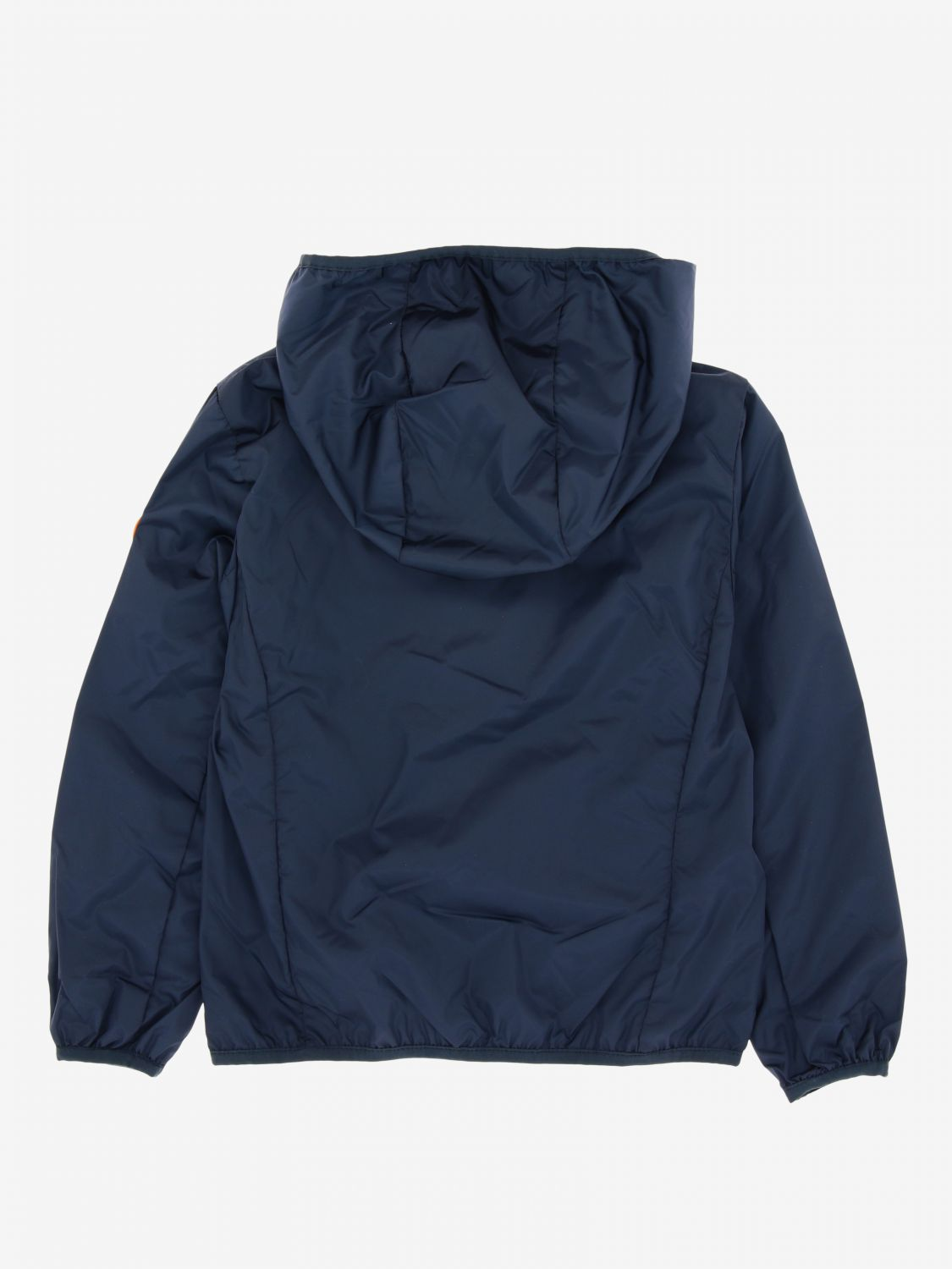 Save The Duck jacket with hood and zip blue 1 2