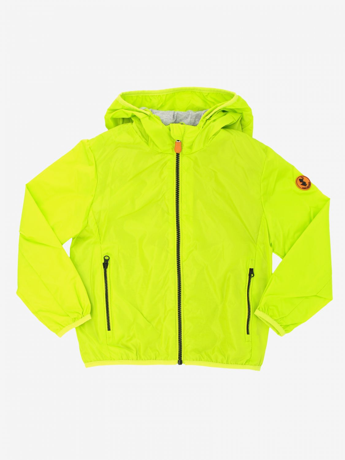 Save The Duck jacket with hood and zip lime 1