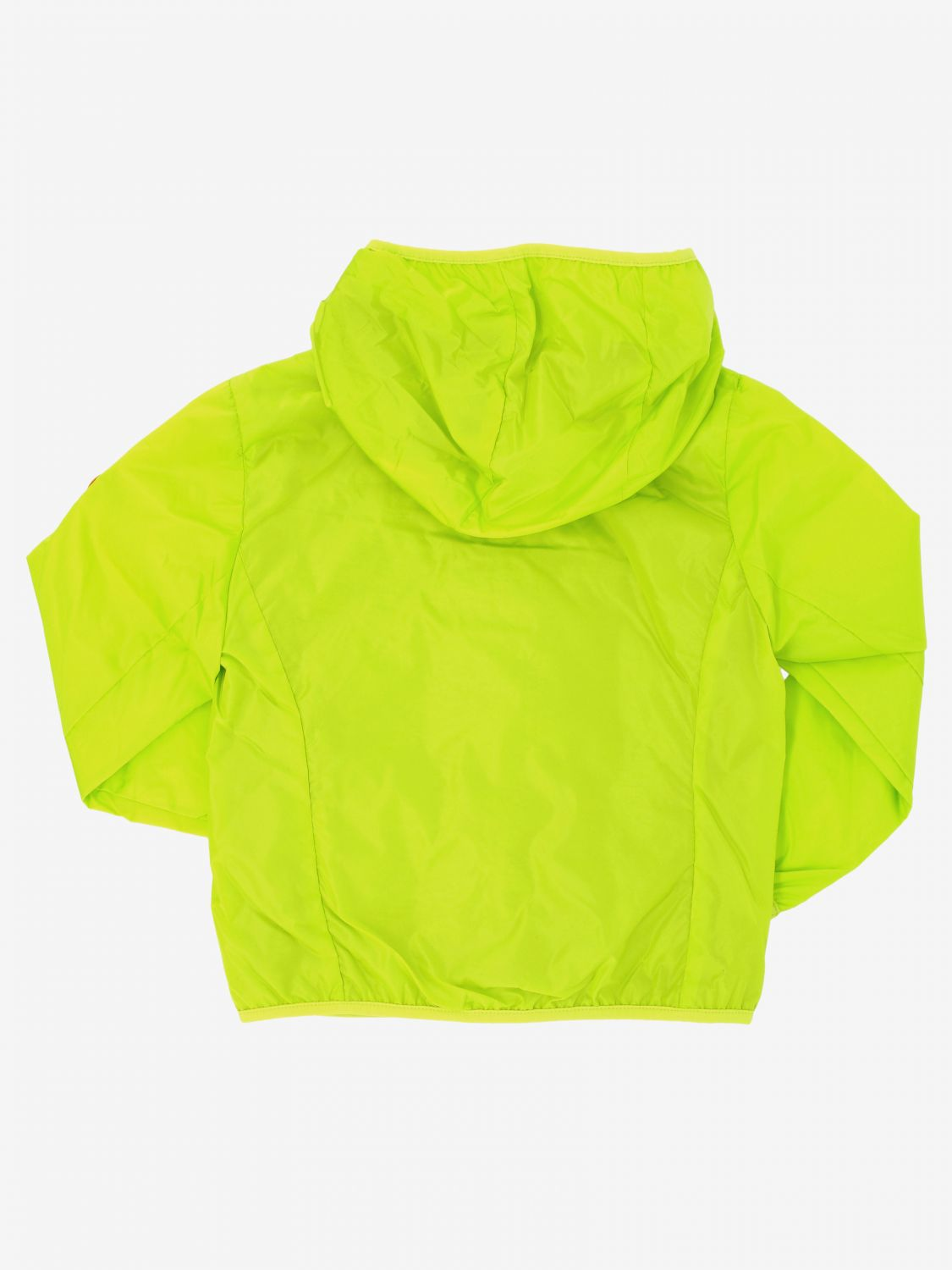 Save The Duck jacket with hood and zip lime 2