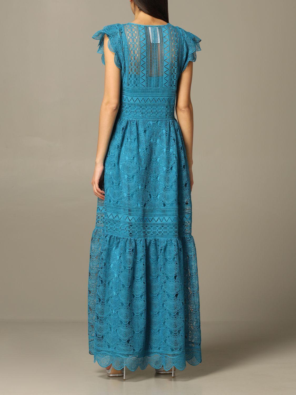 Robes Alberta Ferretti: Robe longue et brodée Alberta Ferretti bleu azur 2