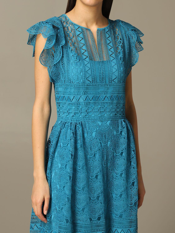 Robes Alberta Ferretti: Robe longue et brodée Alberta Ferretti bleu azur 3