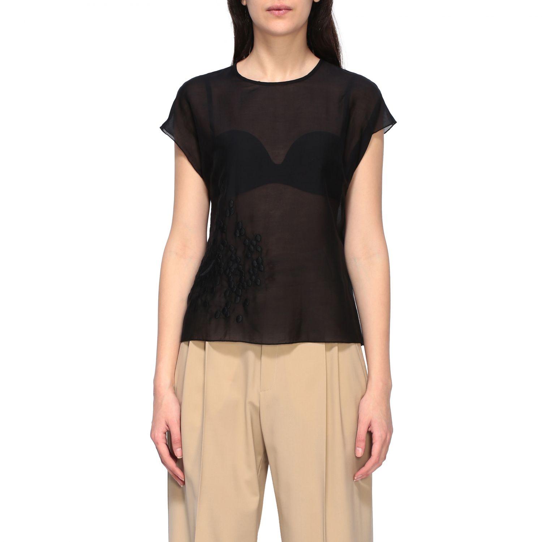 Top Alysi: T-shirt women Alysi black 1