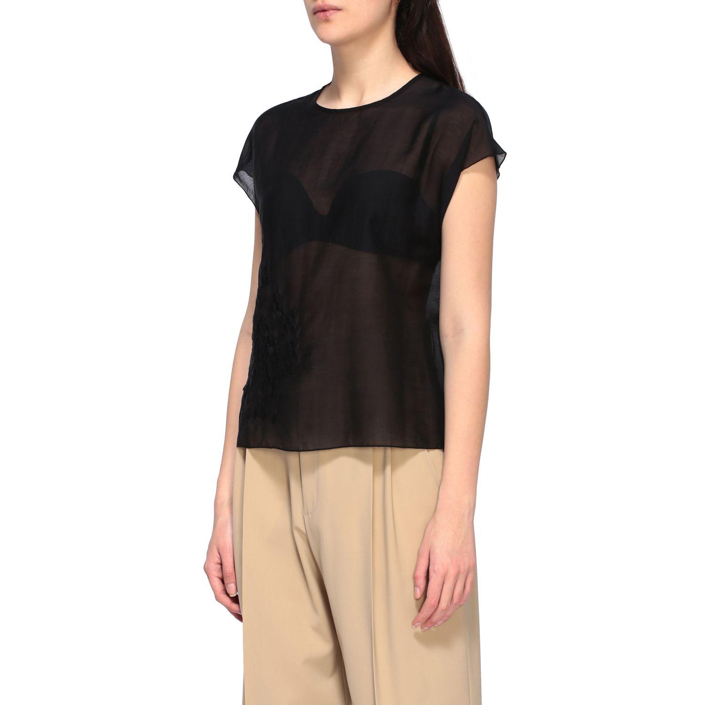 Top Alysi: T-shirt women Alysi black 4