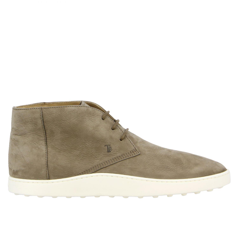 Tod's Sneakers aus Wildleder taubengrau 1