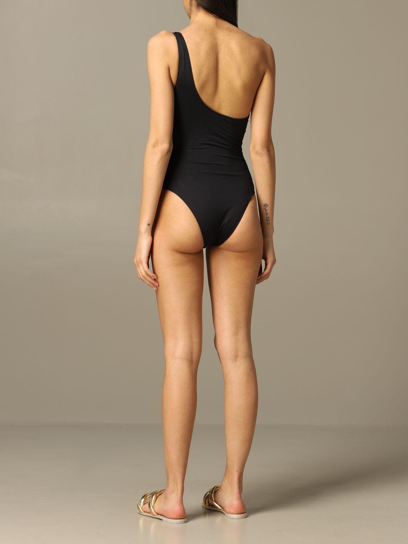 One-shoulder Elisabetta Franchi swimsuit black 2