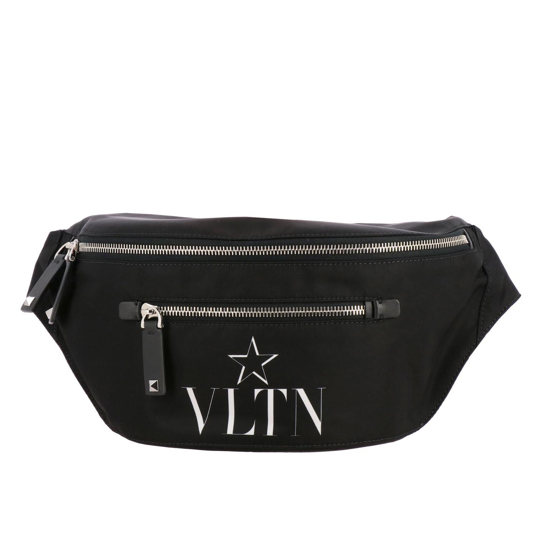 Valentino Garavani Rucksack aus Canvas mit durchgehendem Reißverschluss und VLTN-Monogramm schwarz 1