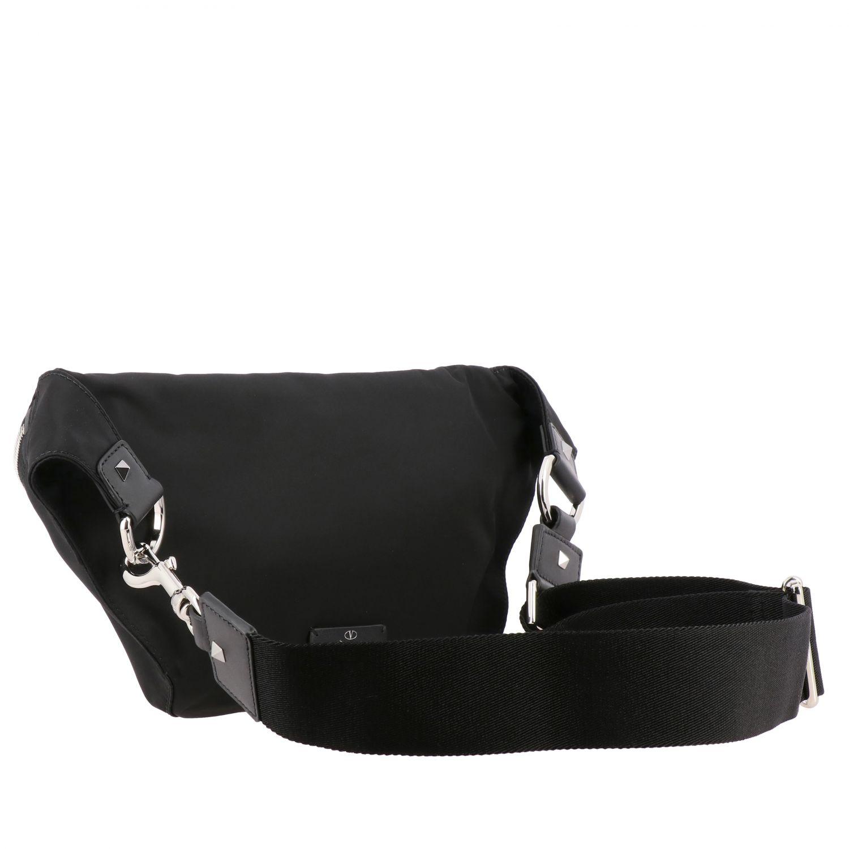 Valentino Garavani Rucksack aus Canvas mit durchgehendem Reißverschluss und VLTN-Monogramm schwarz 3
