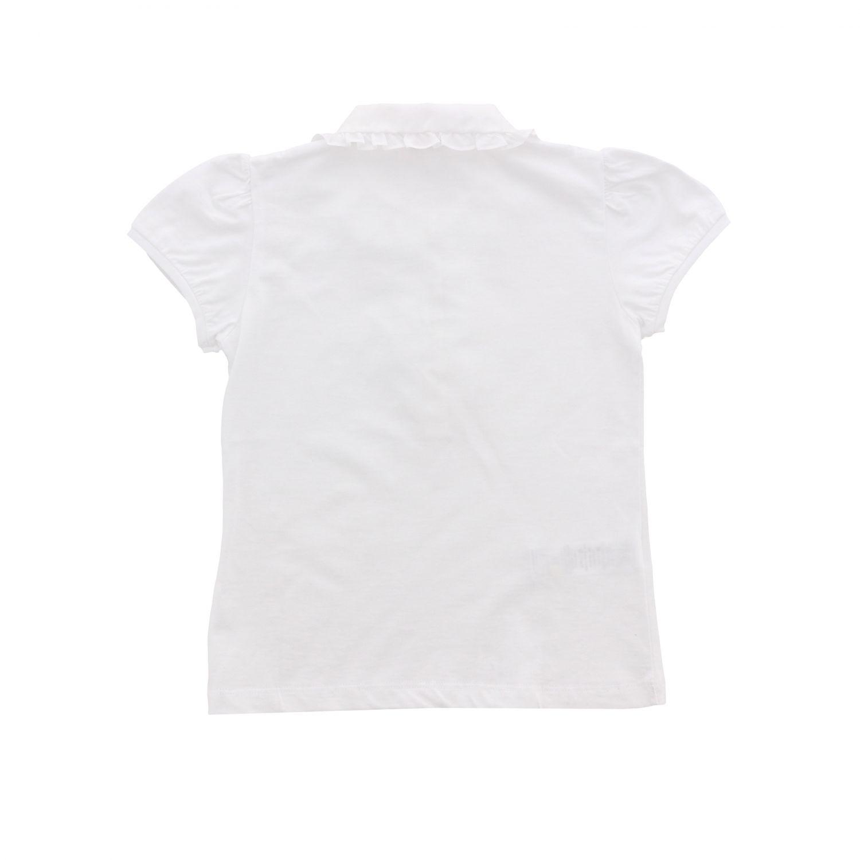 POLO衫 Il Gufo: Il Gufo 飞边领口短袖POLO衫 白色 2