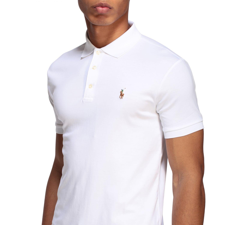 Polo Polo Ralph Lauren a maniche corte bianco 5